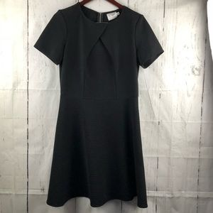 J Taylor black textured skater style dress 12